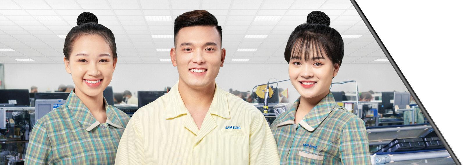 Portrait of Samsung's workers